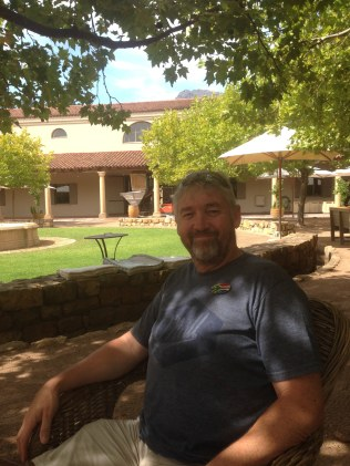 Graham having out in his 'office' at Waterford Winery